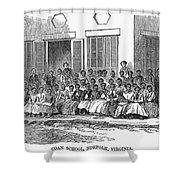 Freedmens School, 1868 Shower Curtain by Granger