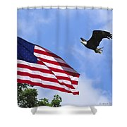 Freedom Feeds The Family Shower Curtain