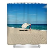 Freedom From Sand Shower Curtain