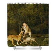 Freeman - The Earl Of Clarendon's Gamekeeper Shower Curtain