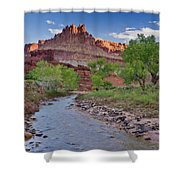 Fremont River And Castle Shower Curtain