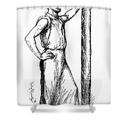 French Abolitionist, 1850s Shower Curtain