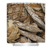 French Breads At A Bazaar In Provence Shower Curtain