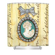 French Cameo 1 Shower Curtain