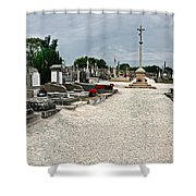 French Cemetery  Shower Curtain