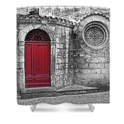 French Church Exterior Shower Curtain