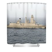 French Destroyer Fs Forbin Shower Curtain