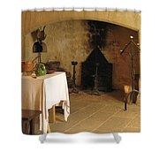 French Kitchen In Castelnaud Shower Curtain