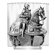 French Knight, 16th Century Shower Curtain