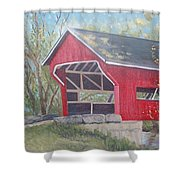French Lick Covered Bridge Shower Curtain