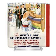 French Line Shower Curtain