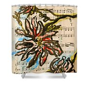French Magnolia Minuet Shower Curtain