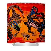 French Music Shower Curtain