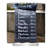 French Mussels Shower Curtain