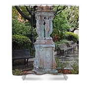French Quarter Courtyard Statue New Orleans Shower Curtain