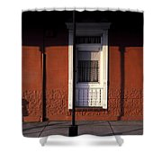 French Quarter Door And Shadows New Orleans Shower Curtain