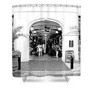 French Quarter French Market Entrance New Orleans Conte Crayon Digital Art Shower Curtain