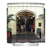 French Quarter French Market Entrance New Orleans Poster Edges Digital Art Shower Curtain