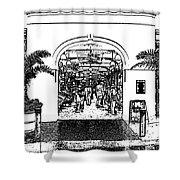 French Quarter French Market Entrance New Orleans Stamp Digital Art Shower Curtain