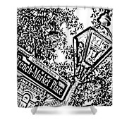 French Quarter French Market Street Sign New Orleans Photocopy Digital Art Shower Curtain