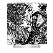 French Quarter French Market Street Sign New Orleans Stamp Digital Art Shower Curtain