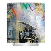 French Quarter In New Orleans Bis Shower Curtain