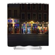 French Quarter Shopping At Night Shower Curtain