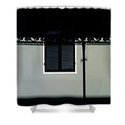 French Quarter Shutter And Shadows Shower Curtain