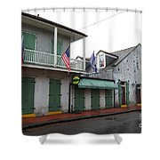 French Quarter Tavern Architecture New Orleans Shower Curtain