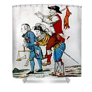 French Revolution, 1792 Shower Curtain