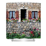 French Stone House Shower Curtain