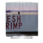 Fresh Shrimp Shower Curtain