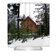 Fresh Snow Glory Shower Curtain