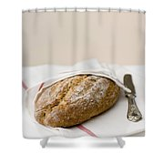 Freshly Baked Whole Grain Bread Shower Curtain by Shahar Tamir
