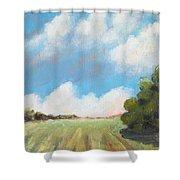 Freshly Cut Hay Field Shower Curtain