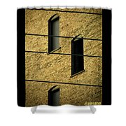 Bass Guitar Frets Shower Curtain