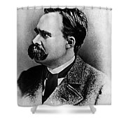 Friedrich Wilhelm Nietzsche, German Shower Curtain