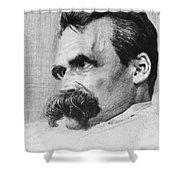 Friedrich Wilhelm Nietzsche, German Shower Curtain by Photo Researchers