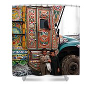 Friends - Take Me For A Ride In Your Jingly Truck Shower Curtain