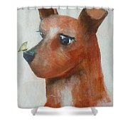 Friends Are Friends Shower Curtain