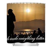 Friends Make Everything Better Shower Curtain