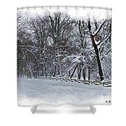 Frigid Shower Curtain by Brian Wallace