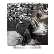 Frigid Falls Shower Curtain