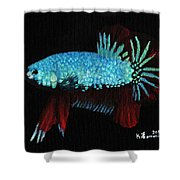 Frilled Blue Moonstone Shower Curtain