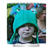 Frog Hat Shower Curtain