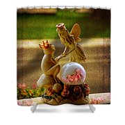 Frog Prince And Fairy Princess Shower Curtain