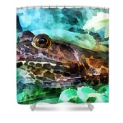 Frog Ready To Be Kissed Shower Curtain by Susan Savad