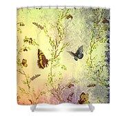 Frolicing Butterflies Shower Curtain