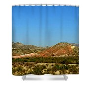 From A Distance Shower Curtain by Judy Hall-Folde
