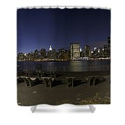 From Gantry At Night Shower Curtain